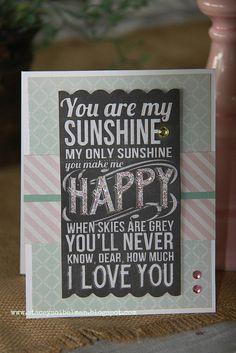 Chalkboard Valentine's Day card.