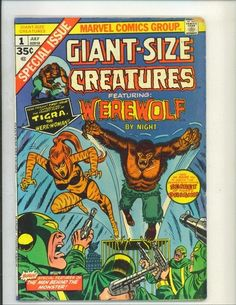 Giant Size Creatures 1 VG FN 1975 Marvel Bronze Age Comics | eBay