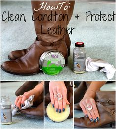 Classically Contemporary: HowTo Clean, Condition, And Protect Leather Leather Boot Care, Clean Leather Purse, Leather Purses, Leather Shoes, Cleaning Leather Boots, Diy Purse Organizer, Clean Boots, Leather Repair, Frye Boots