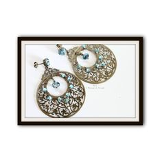 Orecchini filigrana bronzo di B.A. i Bijoux di AngeL - Totally h... via Polyvore