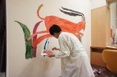 pinkpagodastudio: Miroco Machiko Geometric Drawing, Naive Art, Cool Paintings, Animal Paintings, Outsider Art, Illustration Artists, Japanese Artists, Art Studios, Artist At Work
