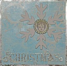 Adventskalender, Tür 1 - Chrismas-Karte mit Magic Paper, 3D-Stempelfarbe und Zauberfolie, Sample - Daniela Rogall