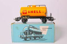 """VINTAGE BOXED MARKLIN """"TANK WAGON SHELL"""" HO TRAIN CAR #4502  #Marklin"""
