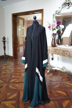 Al Mazyoona Black Embroidered Party Wedding Bisht Abaya Dubai Arabic Jalabiya… Arab Fashion, Islamic Fashion, Muslim Fashion, Modest Fashion, Fashion Outfits, Abaya Mode, Mode Hijab, Abaya Designs, Khaleeji Abaya
