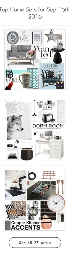 """""""Top Home Sets for Sep 16th, 2016"""" by polyvore ❤ liked on Polyvore featuring interior, interiors, interior design, home, home decor, interior decorating, MAKE UP FOR EVER, Dot & Bo, Gervasoni and Seiko"""