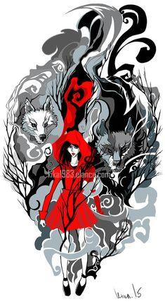 Red Riding hood tattoo- commission by kika1983 on DeviantArt