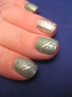 Polishes  OPI: Mermaid Tears  OPI: Crown Me Already  Revlon: Metallic (stamping)    Tools  Cheeky Jumbo Plate C