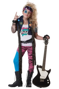 80's Glam Rocker Child Costume .....like the star around her eye