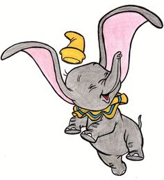 dumbo by amyosaurus-rex on DeviantArt Disney Tattoo Arte Disney, Disney Art, Disney Movies, Disney Pixar, Dumbo Disney, Movies 22, Dumbo Drawing, Dumbo Tattoo, Dumbo Movie