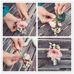 Diy boutonniere diy buttonhole for the groom easy wedding diy do it yourself project romance and lace boutonniere solutioingenieria Image collections