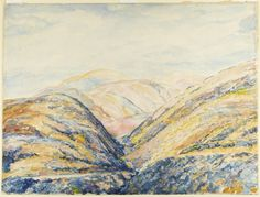 Western Mountains   Princeton University Art Museum. Watercolor by Ernest Haskell