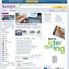 The website 'yahoo.com' courtesy of Pinstamatic (http://pinstamatic.com)