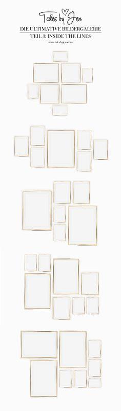 DIE ULTIMATIVE BILDERGALERIE | Ideen für deine Posterwand | Verwandle dein Wohnzimmer in ein Art Studio | Teil 3: Inside the Lines | www.talesbyjen.com