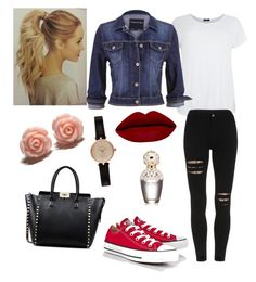 """""""○ casual coffee date w/ friends outfit ○"""" by kglushkova on Polyvore featuring beauty, Converse, maurices, Barbour, Valentino and Marc Jacobs"""