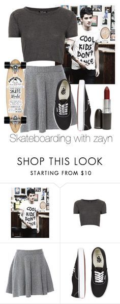 """""""Skateboarding with zayn"""" by cheyenne-stock ❤ liked on Polyvore featuring Topshop, American Retro, Vans, Isabel Marant and MAC Cosmetics"""