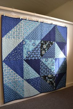 Not crazy about the blue or the prints, but I like the idea of a gradient on a large scale to make a big quilt.