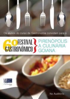 #Cartaz/Convite para apresentação do TCC dos alunos de Gastronomia da Faculdade Mario Schenberg.