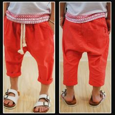 kids harem linen pants summer
