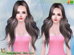 Underneath the Sims Free Butterfly Sims 098 (Donated) Download Hair, Sims Games, Ponytail Hairstyles, Female Hairstyles, Sims Hair, Long Hair Cuts, Sims 3, Barbie Dolls, Butterfly