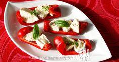 Paprikaschiffchen mit Käse