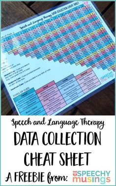 and Language Therapy Data Collection Cheat Sheet Calculate percentages in a snap & objectively describe and quantify your cues with this FREE speech therapy data collection cheat sheet. From Speechy Musings.Quantifier Quantifier may refer to: Speech Pathology, Speech Language Pathology, Speech And Language, Sign Language, Speech Therapy Activities, Language Activities, Speech Therapy Organization, Listening Activities, Shape Activities