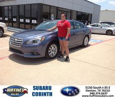 https://flic.kr/p/HK5xSj | Happy Anniversary to Amber on your #Subaru #Legacy from Mike Bresnahan at Huffines Subaru Corinth! | deliverymaxx.com/DealerReviews.aspx?DealerCode=XDJB
