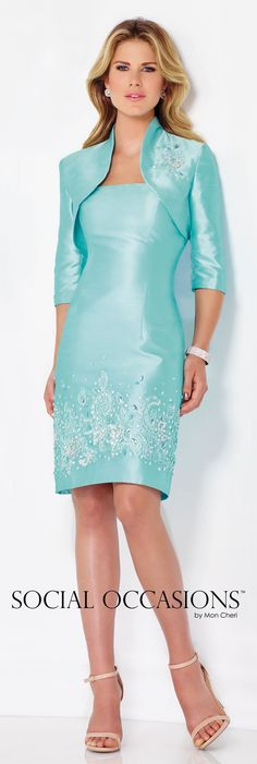Social Occasions by Mon Cheri Spring 2016 - Style No. 116841 #shorteveningdresses