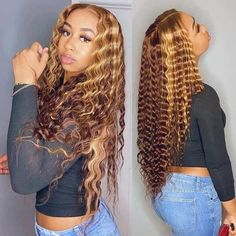 Blonde Curly Wig, Blonde Lace Front Wigs, Curly Lace Front Wigs, Human Hair Lace Wigs, Blonde Highlights Curly Hair, Carmel Blonde Hair, Human Wigs, Ash Blonde, Front Lace