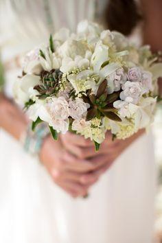 Wedding bouquet|Hana|Maui Photography: Kaua Wedding Photography - kauaweddingphotography.com/ #hana #kauaweddingphotography #wedding  Read More: http://www.stylemepretty.com/destination-weddings/2014/06/30/romantic-hawaiian-inspiration/