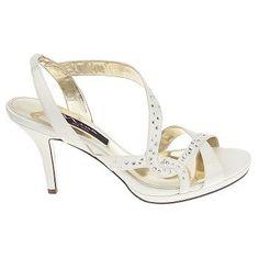Women's Nina Benicia Ivory Satin Shoes.com