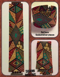 Peyote Stitch Beading Bracelet Pattern by SusanArrighiDesigns