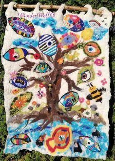 Augen auf I Filzprojekt I Gymnasium I Querfurt I Catrin Beck  I WunderWoll I Filzen mit Kindern I Nachhaltigkeit I Augen auf den Planeten Gymnasium, Art Tutor, Wall Rugs, Planets, Sustainability, Calendar, Eyes, Crafts