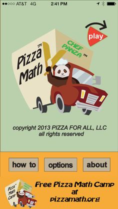 Increase your mental math skills with Pizza Math https://itunes.apple.com/us/app/pizza-math/id545236596?mt=8 https://play.google.com/store/apps/details?id=com.pizzamath.pizzamath