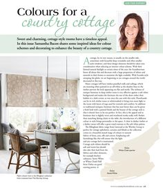 My recent article in Country Home Ideas talks about the ideal colours for a Country Cottage scheme.
