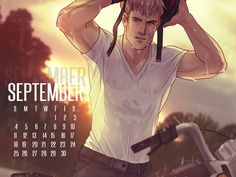 APH 2P Germany Lutz Beilschmidt September Calendar by ask-p2-germany.tumblr.com