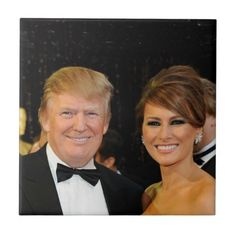 PRESIDENT DONALD TRUMP & MELANIA TILE - home gifts ideas decor special unique custom individual customized individualized