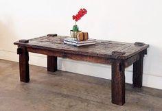 Reclaimed Teak Weaving Style Coffee Table   Gado Gado