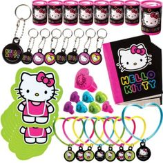 Neon Hello Kitty Favor Pack 48pc - Party City