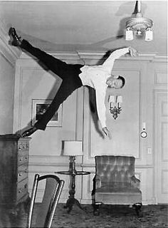 Fred Astaire dancing one of his brilliant routines, choreographed by Hermes Pan. A joy to watch him dance!