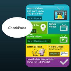 Mit CheckPoint sammelt man Punkte und kann mit diesen Punkten Gift Cards erhalten. Es gibt eine reichliche Auswahl an Gift Cards unter anderem auch, Walmart, Target, Shell und Amazon. Du kannst deine Punkte auch für Sachpreise wie z. B. einen TV einlösen.