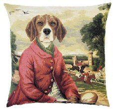 8d32f5691a5 Sir Geoffrey Beagle Belgian Tapestry Cushion Dog Cushions