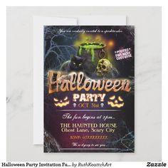 Halloween Party Invitations, Theme Halloween, Halloween Party Costumes, Halloween Spider, Halloween Design, Halloween Cards, Halloween Gifts, Birthday Invitations, Halloween Ideas