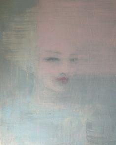 """pink veil"", acrylic on wood panel, 40x50cm,  by Jorunn Mulen"