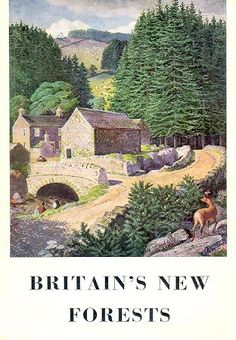 Britain's New Forests - Forestry Commission booklet, 1973 - cover by Charles Tunnicliffe RA Landscape Art, Landscape Paintings, Nature Paintings, Posters Uk, Nature Artists, Nostalgia, The Beautiful Country, New Forest, Cool Landscapes