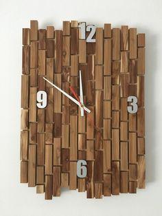 Wanduhr Uhr Holz Uhrwerk Deko Alu Ziffern Unikat Handgefertigt Große  Dekouhr In Uhren U0026 Schmuck,
