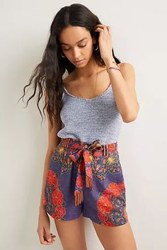 New Clothing for Women | Anthropologie Dressy Shorts, Cute Shorts, Floral Shorts, Women's Shorts, Everyday Look, Everyday Fashion, New Outfits, Cool Outfits, Farm Rio