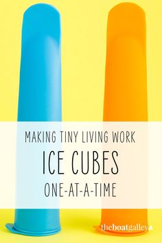Got just a TINY bit of room in your freezer? Not enough for a full ice cube tray, but enough to make just one or two ice cubes? Here's how you can do it! Living On A Boat, Tiny Living, Ice Cubes, Cooking Tools, Enough Is Enough, Food Storage, You Can Do, Freezer, Food To Make
