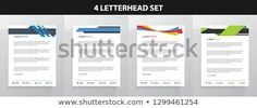 Find Letterhead Template Set stock images in HD and millions of other royalty-free stock photos, illustrations and vectors in the Shutterstock collection. Letterhead Design, Letterhead Template, Royalty Free Photos, Announcement, Create Yourself, Templates, Letterhead, Stencils, Vorlage