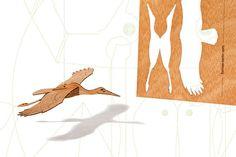 postcard wood 3 stork cards от formesberlin на Etsy