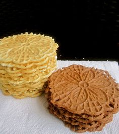 Pizzelle   traditional Italian waffle cookie and are so simple to make! If you do not have a pizzelle maker you should definitely invest in one! One batch makes around 40 pizzelle and they make wonderful gifts too! Every year I always make a couple of batches and include them in gifts for friends and family.        Pizzelle    Ingredients:  -1/2 cup (1 stick) unsalted butter, room temperature  -3/4 cup sugar  -3 eggs  -1 1/2 teaspoons anise extract  -1 teaspoon vanilla extract  -1 3/4 cups…